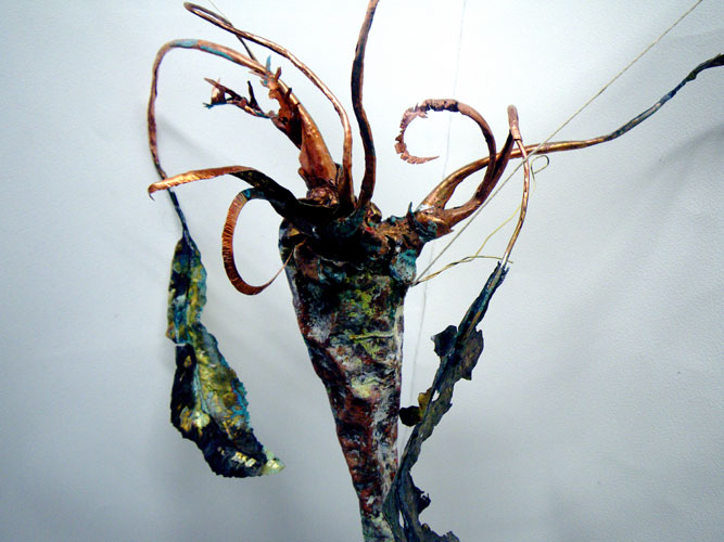 Horseradish - copper, brass leaves, patination